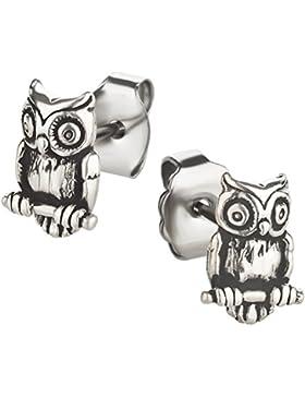 Ohrstecker Eule Ohrring aus Sterling Silber für Kinder Damen und Herren