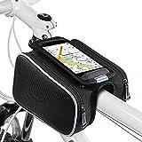 Ubegood Sacoche de Cadre, Étanche Sacoche de Vélo Écran Bicyclette Sacoche de Guidon Double Zipper Cadre pour iPhone 7 Plus/7/6s Plus/6s/Samsung s7 edge/s7,GPS jusqu'à 5,5 pouces - Noir