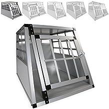 LovPet® Alu Hundebox Alubox Hundetransportbox Transportbox Reisebox Haustiere Stabil Größe: L Farbe: Grau