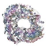 TUDUZ Mädchen Headwear Elastische Haarbänder Pailletten Ornament Ringe Haare Gummibänder Mehrfarben Stretchbar Haargummi Bands (Mehrfarbig)