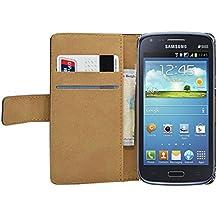 Membrane - Negro Cartera Funda Carcasa para Samsung Galaxy Core (GT-i8260 / GT-i8262 Core Duos) - Wallet Case Cover