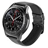 iBazal Bracelets Galaxy Watch 46mm Cuir 22mm Bandes Compatible avec Samsung Gear S3 Frontier Classic Bands Peau Remplacement pour...
