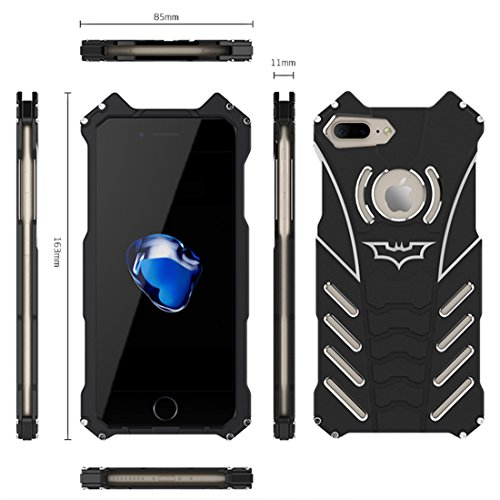 iPhone 6S Custodia ,Cover iPhone 6 , iPhone 6S Case Custodia Bumper Cover Difensore Combo duro Shock-Absorption Bumper e Anti-Scratch Back Nero per Apple iPhone 6 6S 4.7 iPhone 7 Plus nero