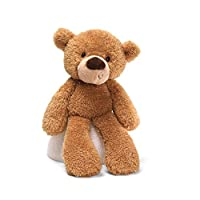 The world's most huggable since 1898;Surface washable;Fuzzy teddy bear with floppy arms and legs as well as cute sideways smile;Gender-neutral beige fabric is stylish and modern;Surface-washable;Ages 1+;13.5 inch height (34 cm)