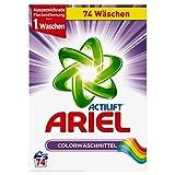 Ariel Colorwaschmittel Pulver, 1er Pack (1 x 74 Waschladungen)