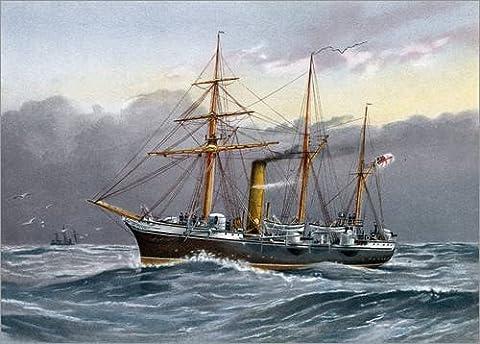Forex-Platte 100 x 70 cm: HMS Nymphe von William Frederick Mitchell / Bridgeman Images