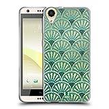 Head Case Designs Plumes Modèles D'art Déco Texturés Étui Coque en Gel molle pour HTC Desire 650