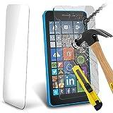 HQ-CLOUD Vitre Film Verre Trempé de protection d'écran pour Microsoft Nokia Lumia 640 LTE/ 640 LTE Dual SIM/ 640 Dual SIM - TRANSPARENT