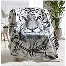 Sherpa plaids Imprimé animal Flanelle Couverture polaire 130 x 170 cm  Taille Snow Leopard Throw 15e7d3ec56d