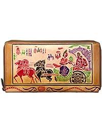 ABYS Rakshabandhan Gift-Genuine Leather Hand Printed Unisex Coin Purse||Passport Wallet||Passport Cover With Metallic...