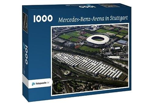 Mercedes-Benz-Arena in Stuttgart - Puzzle 1000 Teile mit Bild von oben