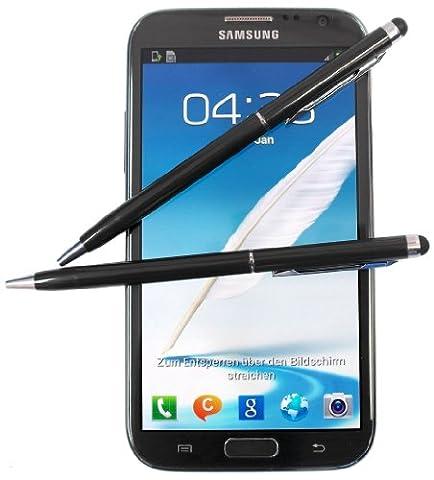 2x SCHWARZ tomaxx Stylus Pen - Eingabestift + Kugelschreiber für