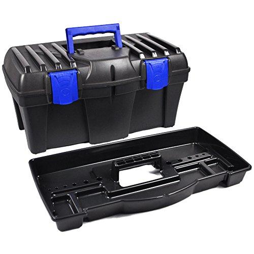 BULTO Werkzeugkoffer Werkzeugkasten 18S – schwarz/blau – 460 x 257 x 227 mm - 3