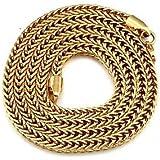 WWM& nunca se desvanecen plateado 24k oro verdadero de los hombres gato figaro cuadrados cadenas de eslabones collar de alta calidad para los hombres 5mm