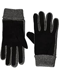 Lee Herren Handschuhe Suede Wool Gloves, Schwarz (Black 01), Medium