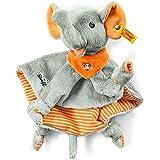 Steiff 240263 - Trampili Elefant Schmusetuch 24, grau/ora