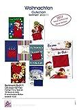 Karte Weihnachten Gutschein 8 Motive - Liefermenge 10 Stück