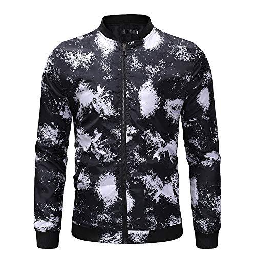 Xmiral Herren Jacke Mantel Zustrom Charme Gedruckte Im Freien Sport-Draussen-Outwear (M,C) -
