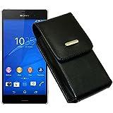 Vertikal Tasche für / Sony Xperia Z3 Compact / Handytasche mit einer Gürtelschlaufe auf der Rückseite