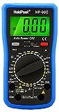 HoldPeak Digital Multimeter HP-90C CATIII mit Batterietester, Strom, Spannung, Widerstand, Transistor, Automatische Abschaltung, Diodentest, Grau Blau