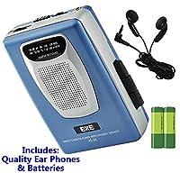 Retro Portable Personal Cassette Tape Player & Radio - inc Earphones �?? Built-In Speaker - inc Batteries (Exe VS-38 Package) (Blue (Inc Batteries))