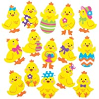 Easter Chick Foam Stickers for Children to Decorate and Personalise Crafts & Cards - Scrapbooking Embellishment for Kids (Pack of 90)
