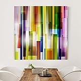 Bilderwelten Leinwandbild - Rainbow Cubes - Quadrat 1:1, Leinwand Leinwandbild - XXL Leinwanddruck Wandbild, Größe HxB: 60cm x 60cm