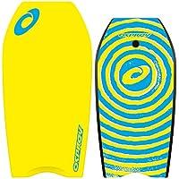 Osprey para niños/adultos en espiral con Bodyboard Leash, XPE Junta con cola en forma de media luna–41inch, Unisex, XPE Spiral, amarillo, na