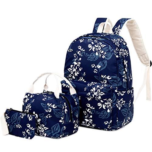 FOANA Damen Handtaschen Schultertasche Geldbörse Kartenhalter Tasche Set 3pc (Marine)