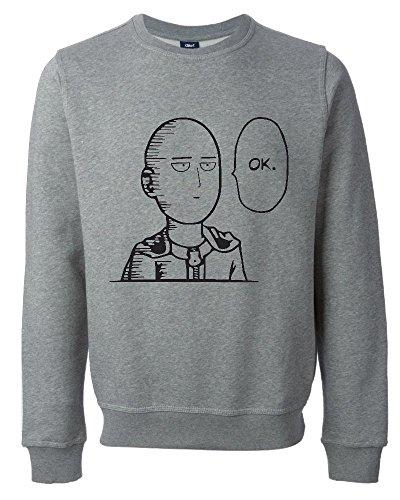 iShirt One Punch Man Saitama OK Funny Unisex Sweatshirt Medium