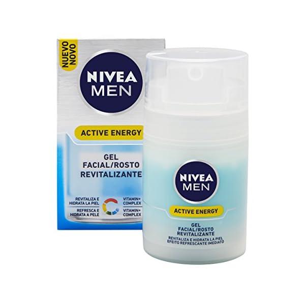 Nivea Men despertador Gel efecto instantáneo Energía Activa, 1er Pack (1 x 50 ml) – Version importada (Alemania)