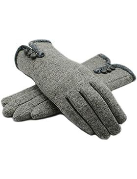 Outray warme Cashmere Winter Handschuhe Druckknopf Handschuhe Damen Fingerhandschuhe