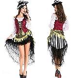 KAIDILA Masquerade Dress de la Mujer Halloween Disfraz Adulto Mujer Pirata Traje Cosplay up Traje Traje de la Etapa de la Mujer