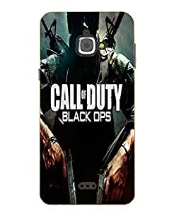 Snazzy Call Of Duty Printed Blue Hard Back Cover For InFocus M350