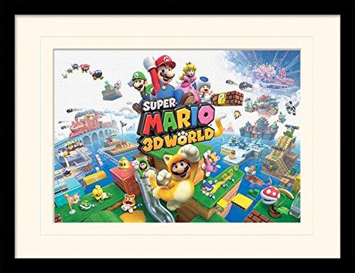 1art1 102019 Super Mario - 3d World Gerahmtes Poster Für Fans Und Sammler 40 x 30 cm (Mario Brothers Dekorationen)