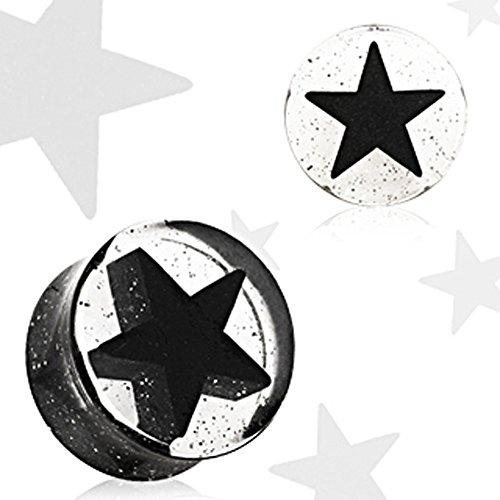 12mm Schwarz UV Acryl Stern 3D Double Flared Glitter (Kronleuchter Kit Glitter)