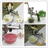 ZHJ Einfache Bedienung Küche Verwenden manueller Edelstahl Gesundheit Wheatgrass juicer Obst Gemüse kommerziellen entsaften Maschine