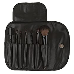 Imported 7pcs Soft Cosmetic Makeup Blush Eyeshadow Brush Set + Pouch Bag Case Black