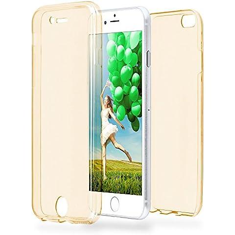 Caso doble para iPhone 6 / 6S | Funda de silicona transparente cubre todo | Delgada 360° completa casos del smartphone OneFlow | Back Cover en Gold