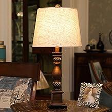 Retro Estilo Europeo Lámpara De Dormitorio Dormitorio Estudio Luz De Cama Simple Decoración Salón Lámparas De Escritorio ( Color : Marrón )