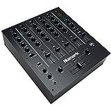 Numark M6 USB - Mezclador de DJ de 4 Canales con Interfaz de Audio Integrada, Ecualización de 3 Bandas, Entrada de Micrófono y Crossfader Reemplazable con Control de Curva