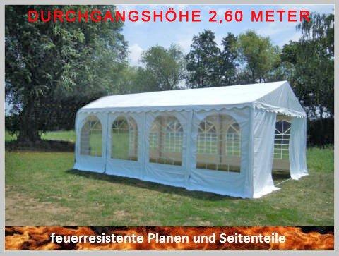 Pavillon Pavillion Festzelt Partyzelt Giant Pro PVC FR XXL 6x8m 8x6m 6x8 8x6 mit Fenster