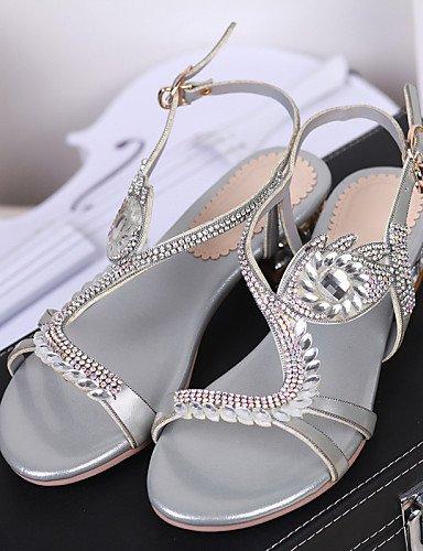 UWSZZ IL Sandali eleganti comfort Scarpe Donna-Sandali / Scarpe col tacco-Formale / Casual / Serata e festa-Tacchi / Spuntate-Quadrato-Finta pelle-Viola / Argento Purple