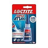 Loctite Super Attak Professional, Colla liquida trasparente per usi precisi, Colla universale istantanea, Colla forte e resistente, 1 x 20g