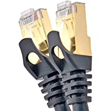 Cablesense – 0.25m Cat6 FTP Professional Gold Headed Shielded Network cable – Para Conducir – Alta Velocidad 500MHz de Primera Calidad CAT6/Parche/Ethernet/Módem/Router