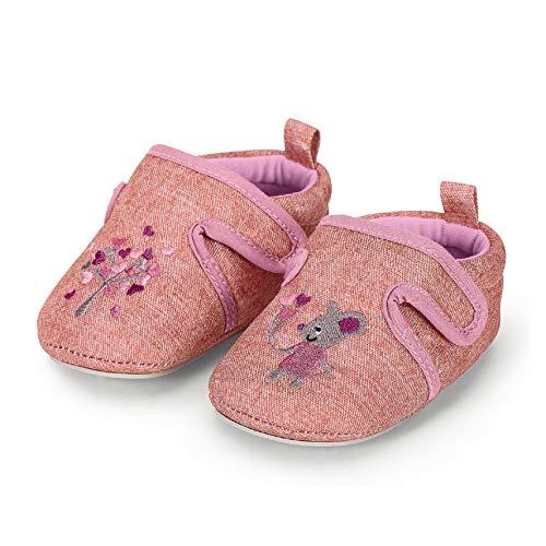 Sterntaler Mädchen Baby-Krabbelschuh Flache Hausschuhe, Pink (Rosa 702), 19-20 EU