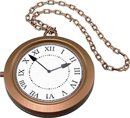 bo Uhr Ø 20cm Steampunk Rapper Hutmacher Schick Party Medaillon (Uhr Rapper)