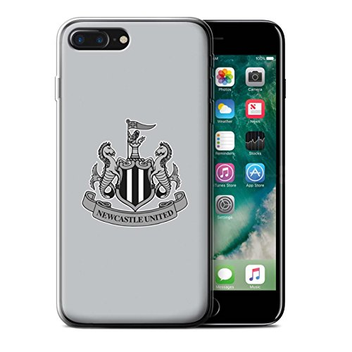 Officiel Newcastle United FC Coque / Etui Gel TPU pour Apple iPhone 6+/Plus 5.5 / Mono/Noir Design / NUFC Crête Football Collection Mono/Gris