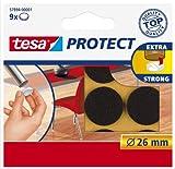 Tesa Protect Filzgleiter, rund, Ø26mm, braun, 9 Stück