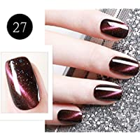 BBestseller Esmalte de uñas Gel Cat Eye + esmalte de uñas negro UV LED Polish Semi Permanent Set Uñas de Gel Manicura 8ml